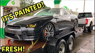 Download Rebuilding A Wrecked 2013 Nissan GTR Part 6 Video