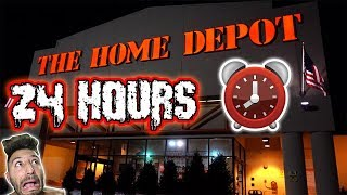Download 24 HOUR OVERNIGHT CHALLENGE AT HOME DEPOT GIANT BOX FORT | HIDE AND SEEK AT HOME DEPOT OVERNIGHT Video