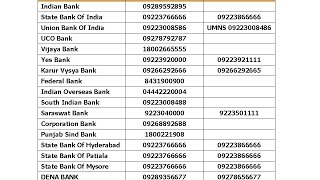 Download Missed Call Balance Enquiry Number of All Banks Video