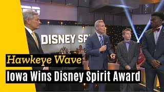 Download Iowa accepts Disney Spirit Award for ″The Wave″ Video