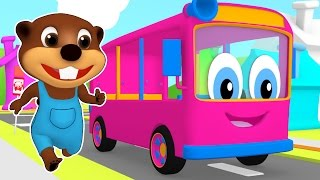 Download ″Pink Bus Wait for Me″ | Learn Colors, Children's Colours Song, Busy Beavers Leaning Video for Kids Video