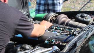 Download BMW s38 turbo @ Bimmerparty 2014 Video