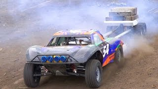 Download RC ADVENTURES - Power Pulling Weight Sled - 1/5 Scale Radio Control Gas Powered Trucks Video