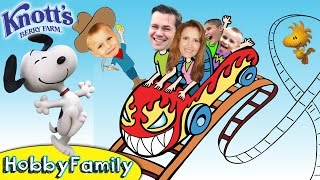 Download Wild Rides at SNOOPY Knott's Berry Farm! Roller Coaster Theme Park Vacation HobbyFamilyTV Video