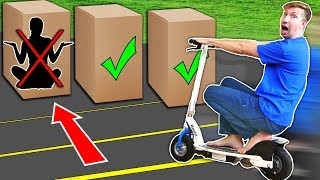 Download RUN OVER Hiding Person in the Box Challenge! Video