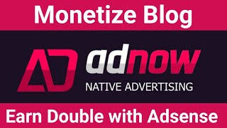 Download How to Earn from AdNow for New Blogger [Hindi] Video