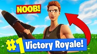 Download PRETENDING To Be A *NOOB* To WIN In Fortnite Battle Royale! Video