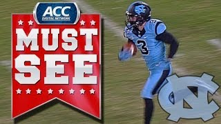 Download UNC's Ryan Switzer Ties NCAA Record With Punt Return TD | ACC Must See Moment Video