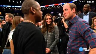 Download Will and Kate meet Jay Z and Beyonce at NBA game Video