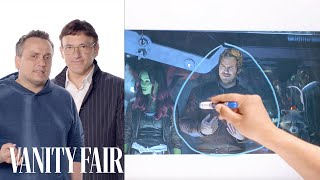Download Infinity War's Directors Break Down the Thor and Guardians of the Galaxy Scene   Vanity Fair Video