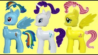 Download My Little Pony MLP Rainbow Dash Spin n Slide Building Toy Play Set Video