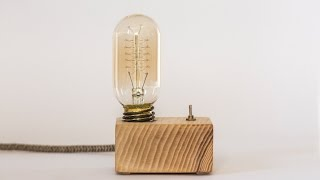 Download wood lamp: how to make a vintage lamp (edison lamp) Video