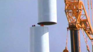 Download Delivery and assembly of a wind turbine Video