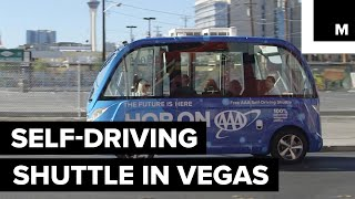 Download Self-Driving Shuttle to Offer Rides Down the Vegas Strip Video