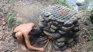 Download Primitive Technology: Hot Smoked Meat - Food Preservation Video