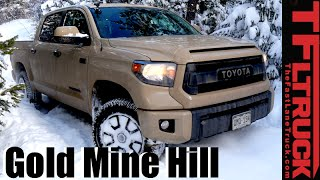 Download 2016 Toyota Tundra TRD Pro takes on a Snowy Gold Mine Hill Review Video