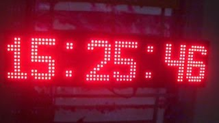 Demo Clock matrix 2 module led P10 AVR by LEDACDAM Free Download