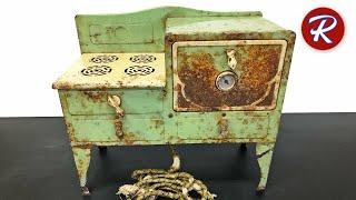 Download Vintage Toy Electric Oven Restoration - Little Lady Range By Kingston Video