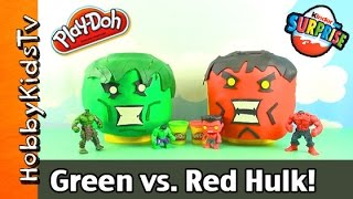 Download Play-Doh Giant LEGO Head Green Hulk vs. Red Hulk Makeover Video