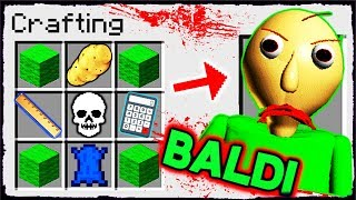 Download Minecraft Baldi - How to Summon BALDI in a Crafting Table! Video