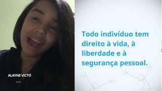 Download Alayne Victoria Da Costa Silva, Brazil, reading article 3 of the Universal Declaration of Human Rig Video