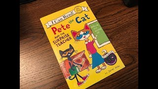 Download Pete The Cat and the Surprise Teacher Children's Read Aloud Story Book For Kids By James Dean Video