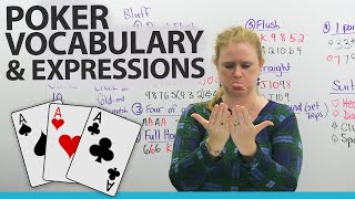 Download Learn English – Vocabulary & Expressions for POKER and other card games Video