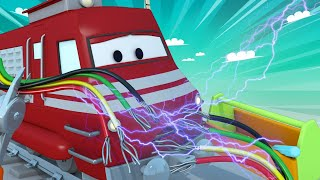 Download Train for kids - The electrician train - Troy The Train in Car City Video
