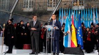 Download O presidente da Xunta diríxese aos galegos na praza do Obradoiro Video