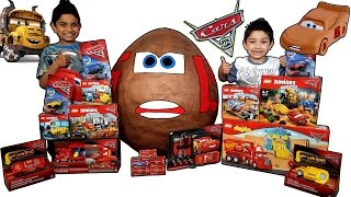 Download Disney Cars 3 Toys Worlds Biggest Muddy McQueen Toy Surprise Egg with Big Lego Collection Video