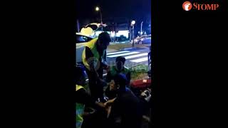 Download 17-year-old PMD rider hit by car at Yishun junction Video