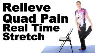 Download Relieve Thigh Pain with This Real Time Standing Quad Stretch - Ask Doctor Jo Video