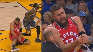 Download Draymond Green Breaks Jonas Valanciunas' Thumb! Warriors vs Raptors Injury Video