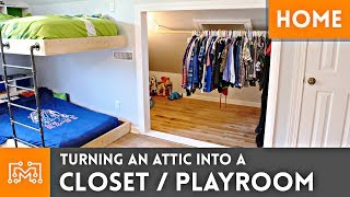 Download Turning an Attic into a Closet/Playroom Video