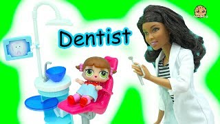 Download LOL Surprise Blind Bag Baby Doll Go To Doctor Barbie Dentist & Bad Babies Pee, Spit , Cry Video
