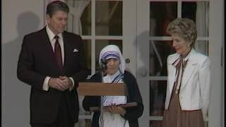 Download President Reagan Presenting the Presidential Medal of Freedom to Mother Teresa on June 20, 1985 Video