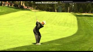 Download Tiger Woods awesome Stinger Punch Draw w 7i at the US Open Swing Video
