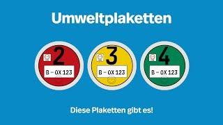 Download Umweltplaketten - Ein Überblick I Kennzeichenbox.de Video