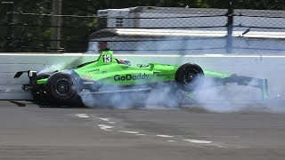 Download IndyCar - Indianapolis 500 - 2018 - Crash Compilation Video