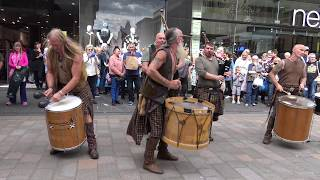 Download Clanadonia perform Last of the Mohicans in Perth City centre during Medieval Fayre Aug 2017 Video