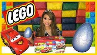 Download Disney Cars Lightning McQueen Tow Mater Races Lego Duplo Egg Surprise Thomas and Friends Kids Toys Video