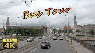 Download Riga, City Tour by Bus - Latvia 4K Travel Channel Video