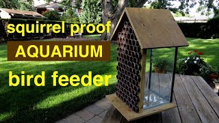 Download How to make ● a SQUIRREL PROOF Bird Feeder ( from an aquarium ! ! ) Video