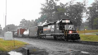 Download NS (local) G19 runs through a rain storm in Stockbridge, Ga. Video
