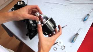 Download Retrofitting Mini H1 Bi-Xenon Projectors Motorcycle Headlight Installation Video | Retrofitlab Video