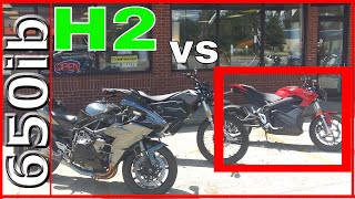 Download Zero SR electric motorcycle SMOKES Ninja H2!!! Video