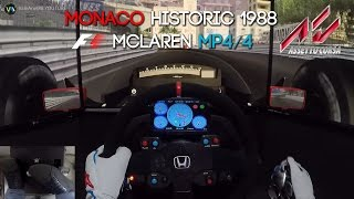 Download F1 1988 MONACO GP HISTORIC | MCLAREN MP4/4 Ayrton Senna | ASSETTO CORSA PC | HD 1080p Video