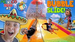 Download GIANT BUBBLE WATER SLIDE! Cancun Mexico Waterpark! Moon Palace Grand (FUNnel Vision Mexico 2018 #2) Video