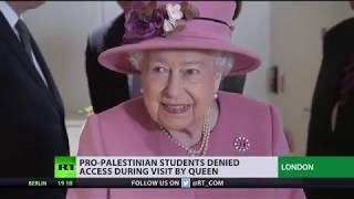 Download 'Security threat'? Pro-Palestinian students denied access to campus during Queen's visit Video