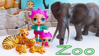 Download Baby Animals At Zoo - LOL Surprise Lil Sisters Fun Playmobil Toy Video Video